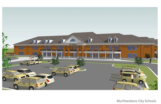This rendering shows what a future southwest elementary school will look like when it opens summer 2019 on St. Andrews Drive off Veterans Parkway south of New Salem Highway.