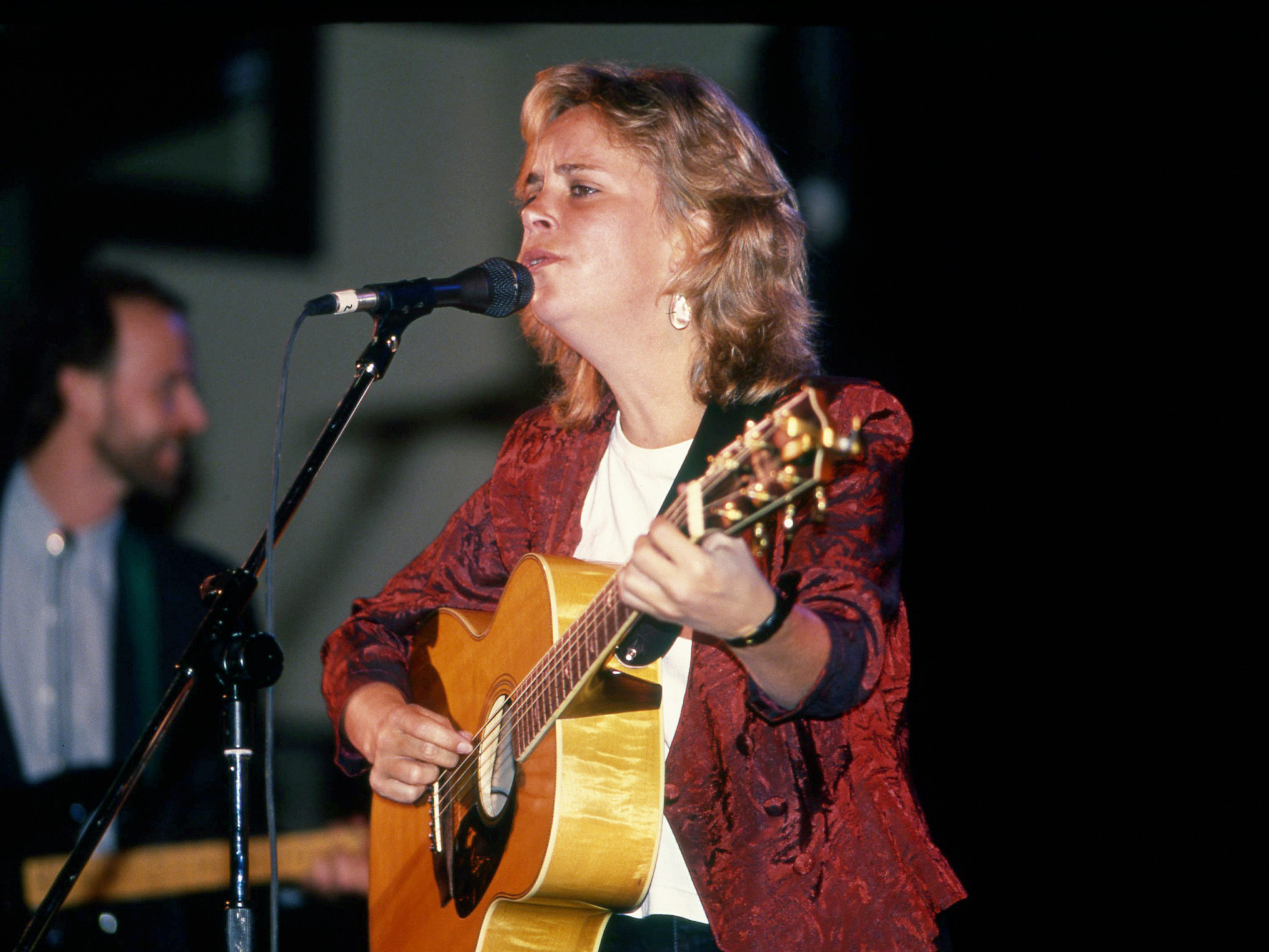 Mary Chapin Carpenter offers some of her folk-country fusion sound during the Talent Buyers Entertainment Marketplace at the Hyatt Regency Hotel on Oct. 8, 1988. The Washington, D.C., stylist was one of 15 young acts that were showcased to kick off Country Music Week activities.
