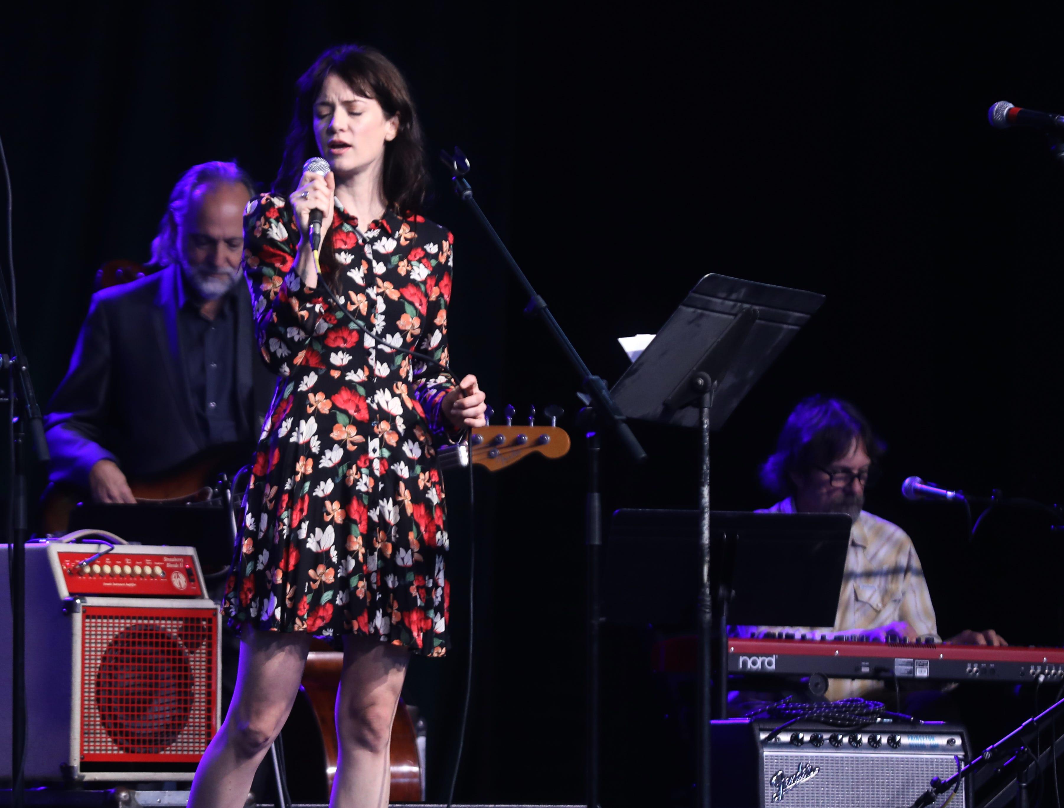 Nikki Lane performs during a Celebration of Life service held for singer-songwriter Tony Joe White at Marathon Music Works Wednesday, October 31, 2018.