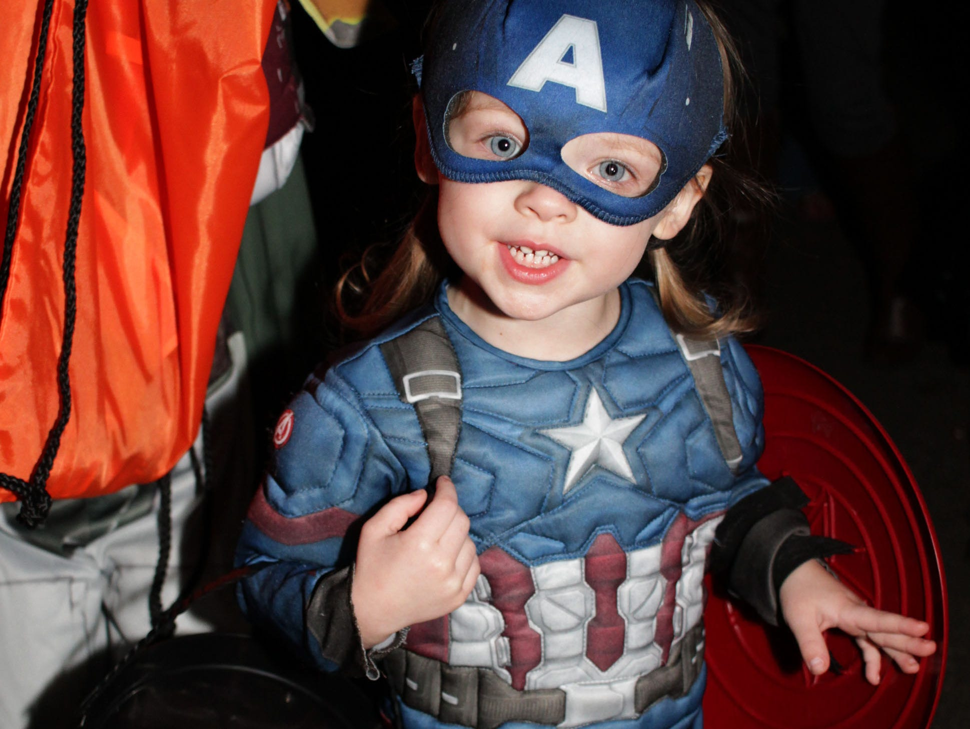 Hayden Napier wanted to be Captain America for Halloween and so she was, at Drakes Creek Park in Hendersonville, TN on Tuesday, October 30, 2018.
