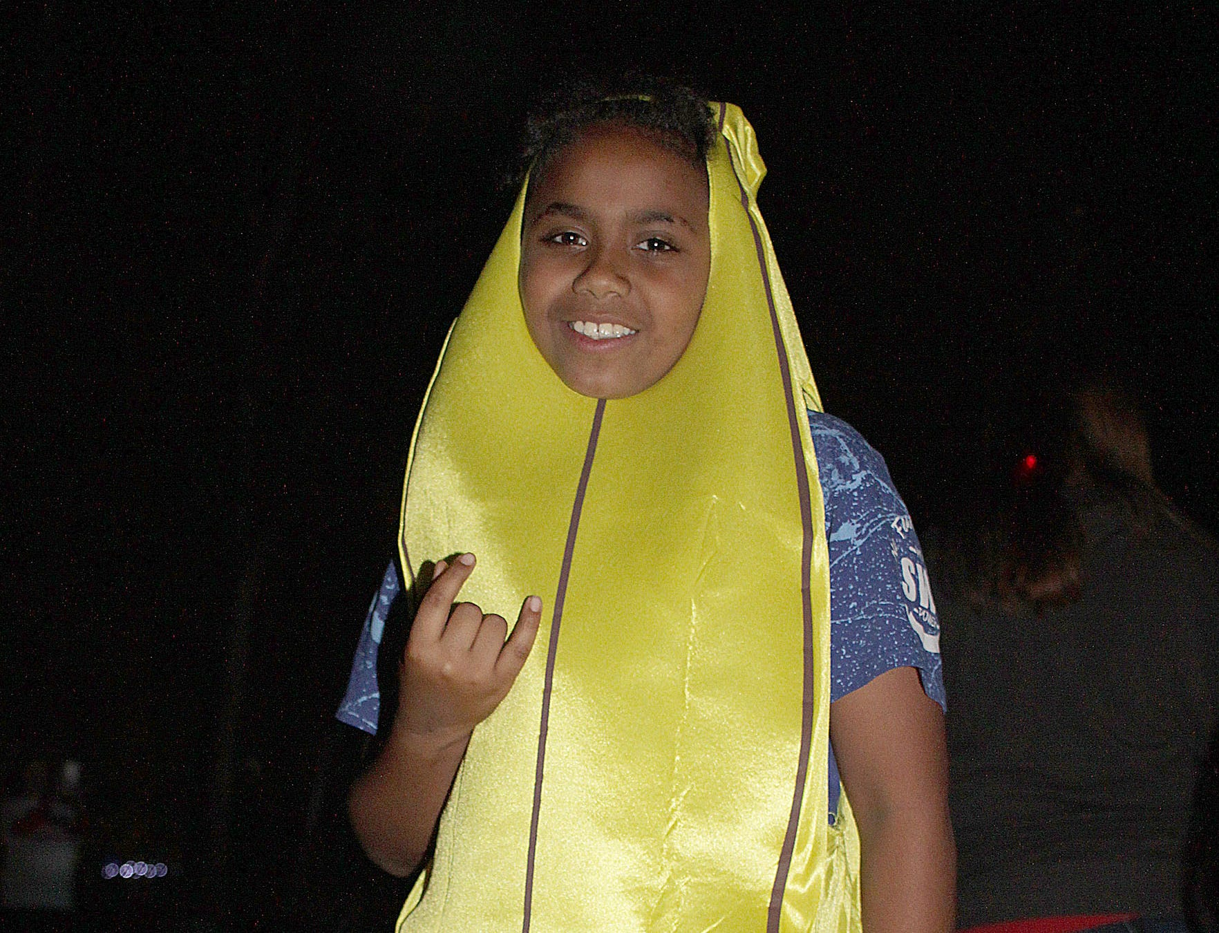 Devonte Harris went trick or treating as a banana at Drakes Creek Park in Hendesonville, TN on Tuesday, October 30, 2018.