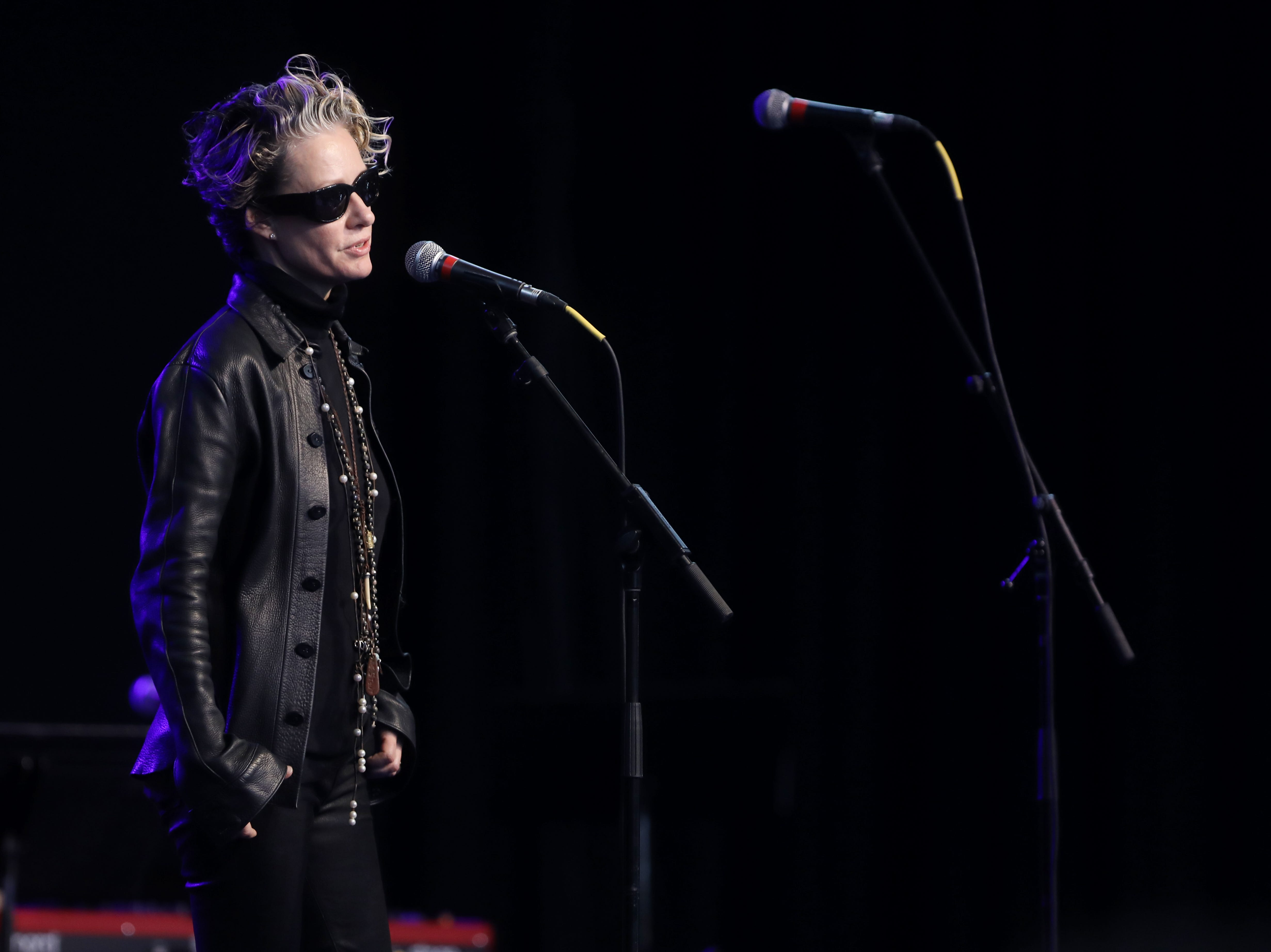 Shelby Lynne performs during a Celebration of Life service held for singer-songwriter Tony Joe White at Marathon Music Works Wednesday, October 31, 2018.