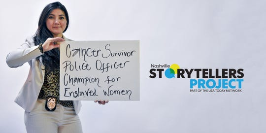 Metro Nashville police officer Cecilia Gomez joined the force to help victims of human trafficking. She will share what inspired her journey at the next Nashville Storytellers on Dec. 3.