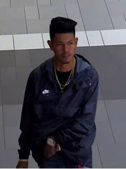 Surveillance footage shows the identified suspect in the theft, according to the Franklin Police Department.