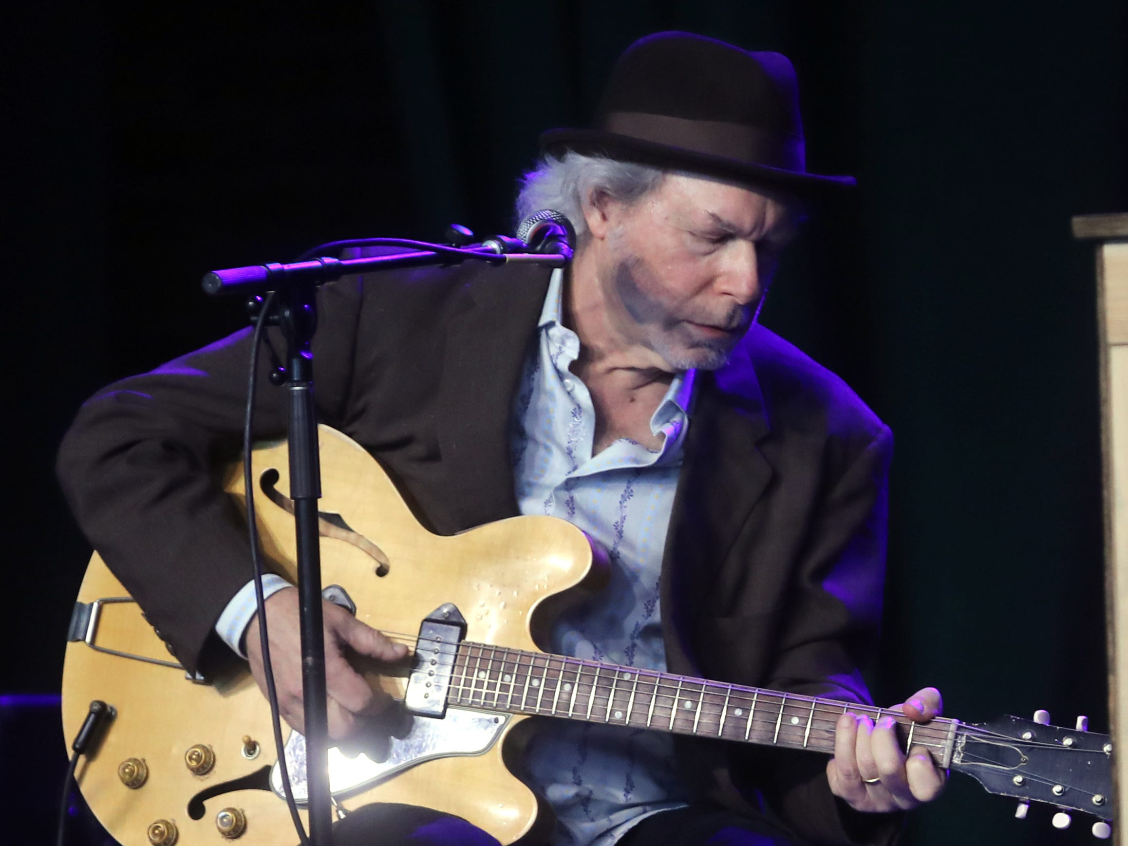 Buddy Miller performs during a Celebration of Life service held for singer-songwriter Tony Joe White at Marathon Music Works Wednesday, October 31, 2018.