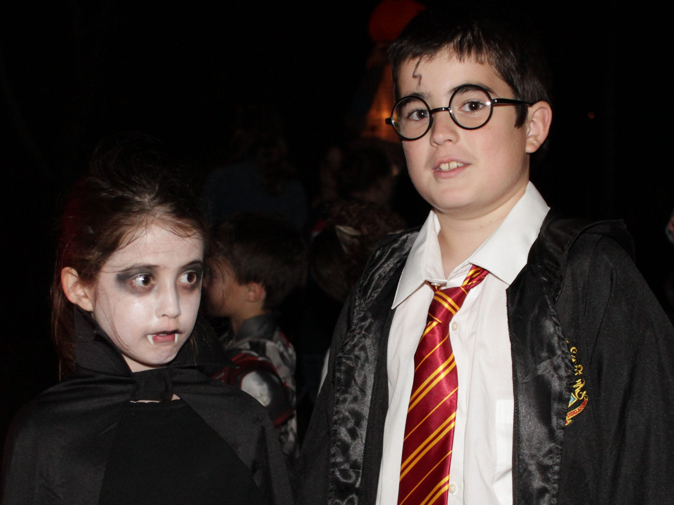 L-R Ryan and Kyle Feole are Mavis and Harry Potter for Halloween at Drakes Creel=k Park in Hendersonville, TN on Tuesday, Ocotober 30, 2018.