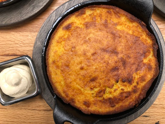 Cast-iron cornbread from The 404 Kitchen (the hotel of the same name is across the street).