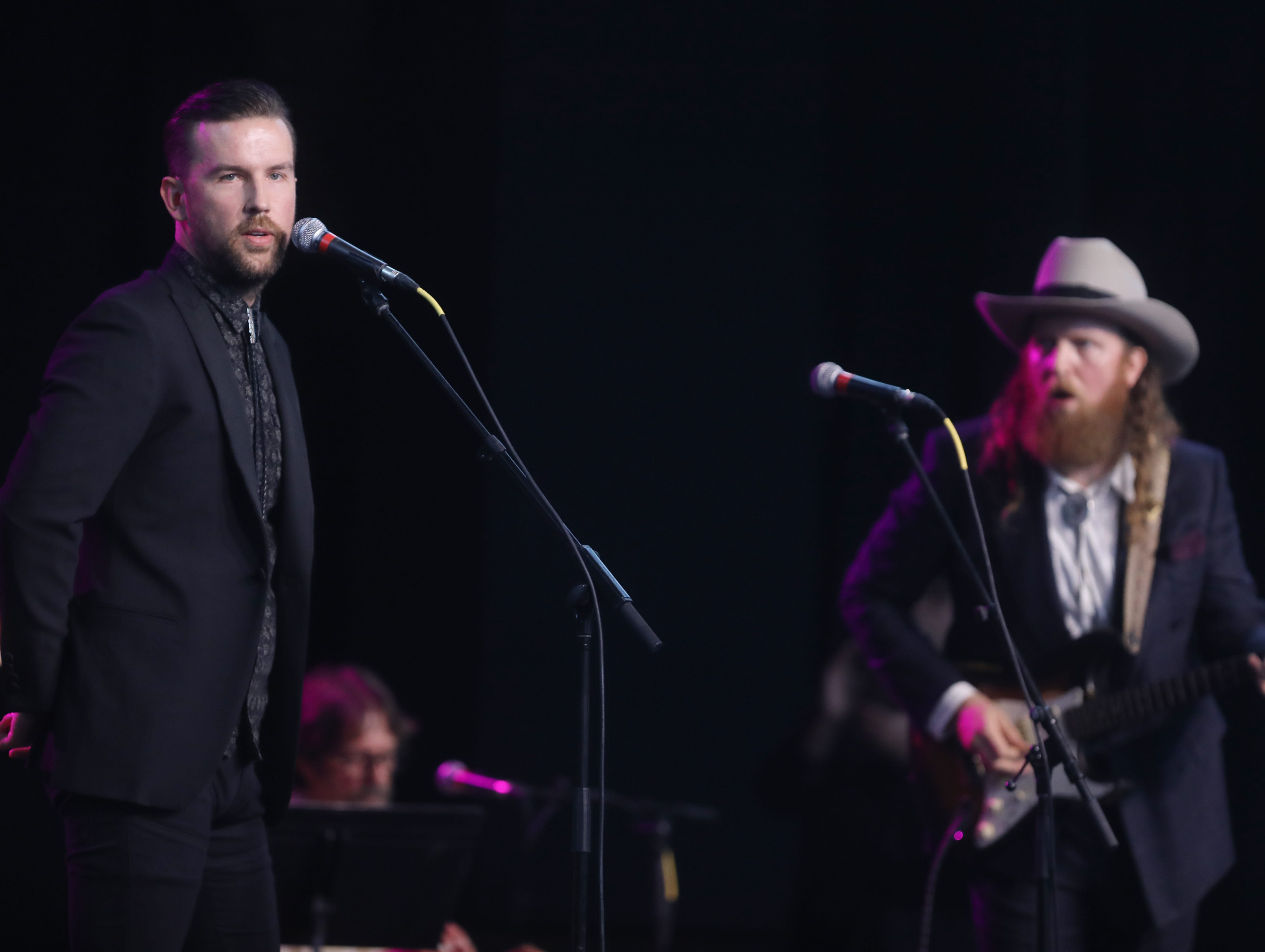 Brothers Osborne perform during a Celebration of Life service held for singer-songwriter Tony Joe White at Marathon Music Works Wednesday, October 31, 2018.