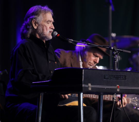 Donnie Fritts performs during a celebration of life service for Tony Joe White at Marathon Music Works in Nashville in 2018. Fritts died Aug. 27 at age 76.