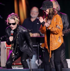 Shelby Lynne and Jessi Colter join the Brothers Osborne on stage during a Celebration of Life service held for singer-songwriter Tony Joe White at Marathon Music Works Wednesday, October 31, 2018.