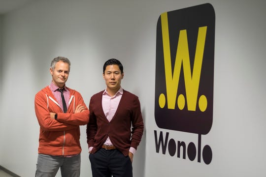 Wonolo founders AJ Brustein and Yong Kim
