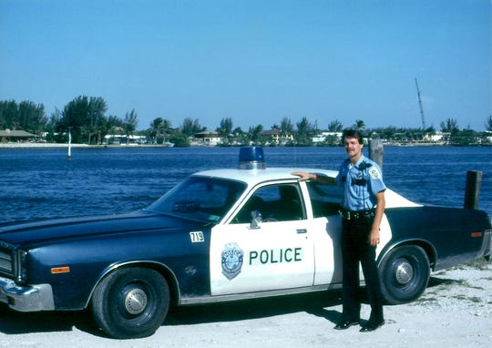 Collier County Sheriff Kevin Rambosk pictured here during his first year as a Naples Police officer 40 years ago.