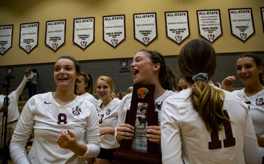 First Baptist Academy wins the Class 3A regional final volleyball championship on Tuesday, October 30, 2018, at First Baptist Academy.