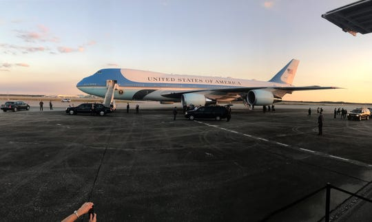 President Trump's Air Force One lands at RSW