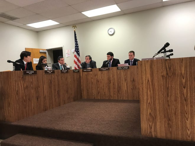 The Lodi Board of Education during a meeting on October 30, 2018.