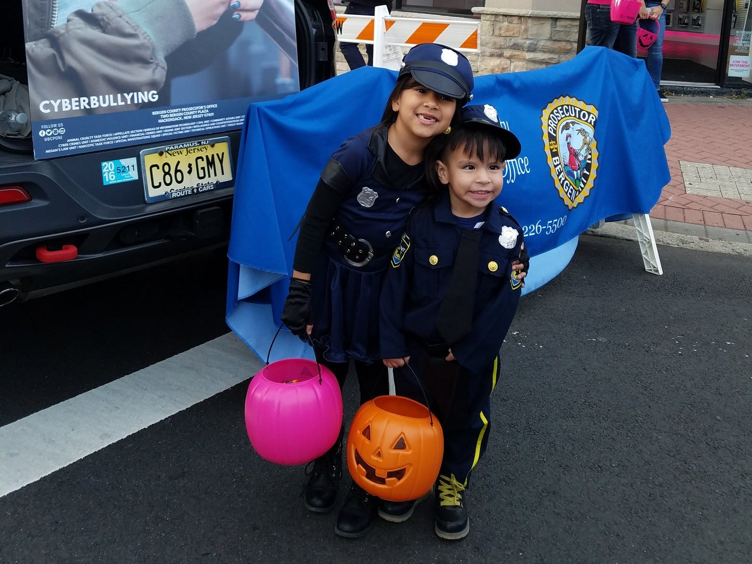 The Bergen County Prosecutor's Office attends a trunk-or-treat in Bergenfield for Halloween 2018.