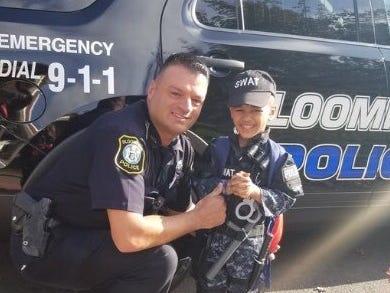 Bloomfield police celebrate Halloween 2018.