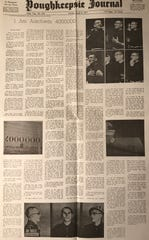This article in the April 4, 1971 edition of the Poughkeepsie Journal documented one of Stanley Kozlowski lectures about the horrors he experienced and witnessed while imprisoned in World War II Nazi concentration camps in Poland and Germany. Kozlowski was one of 10 Capuchin friars who relocated to Jefferson, N.J. and lived in the monastery at Ringling Manor after they were liberated and served in the area.