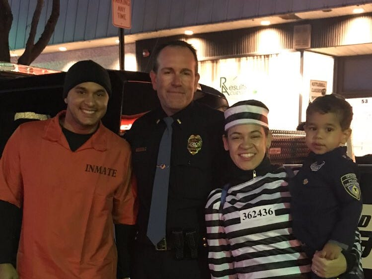 Bergenfield police made friends with some faux-prisoners on Halloween 2018.