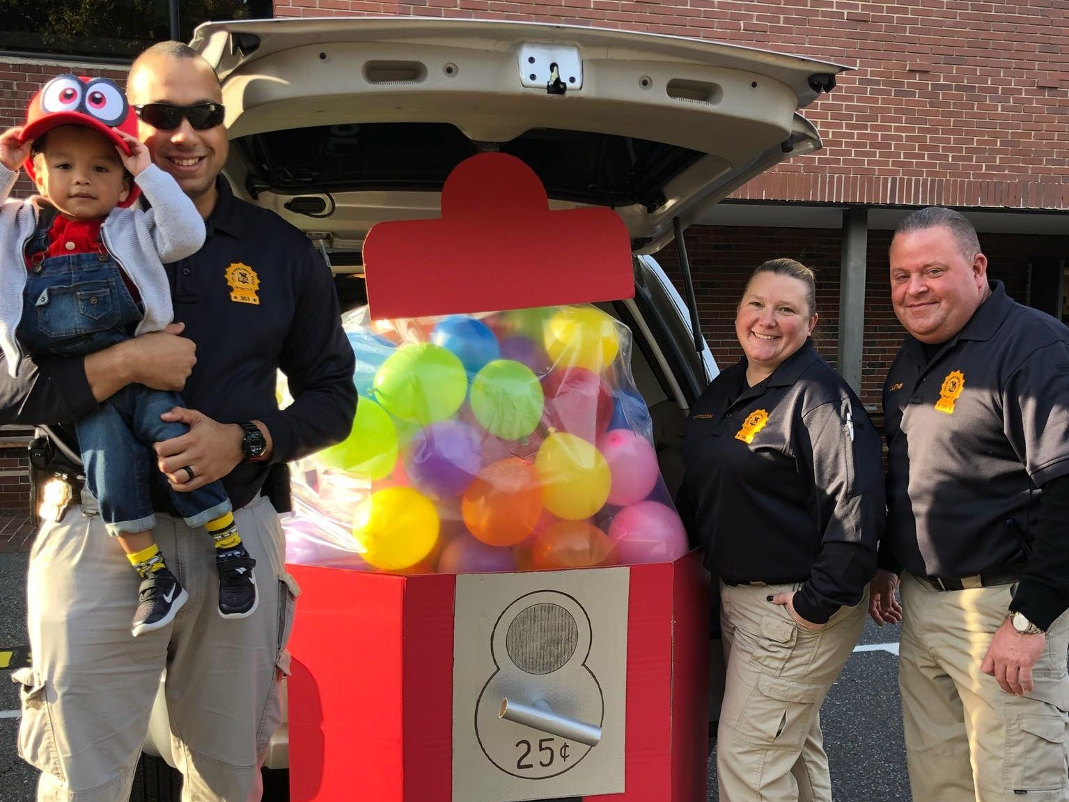 Hackensack police attend a trunk-or-treat on Halloween 2018.