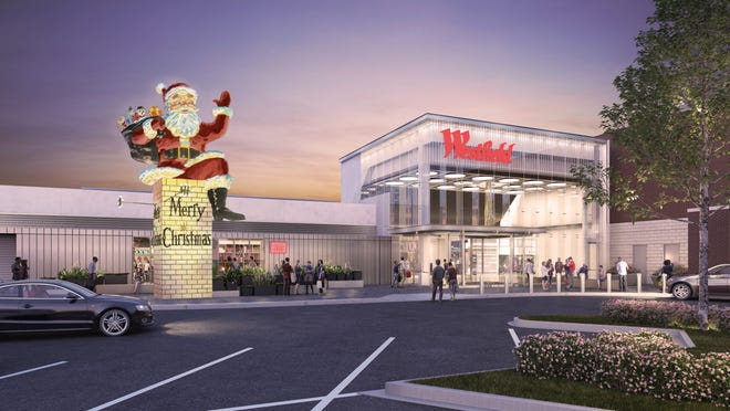A rendering of the new Santa that will be installed at Garden State Plaza