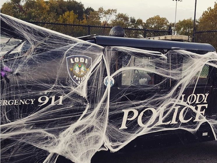 Lodi police get in the Halloween spirit with a decorated vehicle.