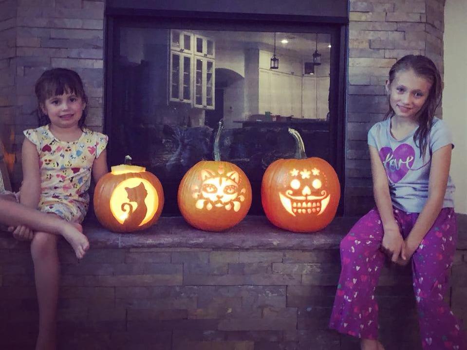 Pumpkins by the Jennifer Castillo family.