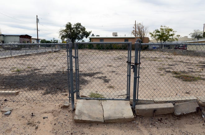 Las Cruces is considering creative solutions  to help stimulate building on vacant lots, such as this one at the corner of  Tornillo Street and Lucero Avenue in the Mesquite neighborhood.