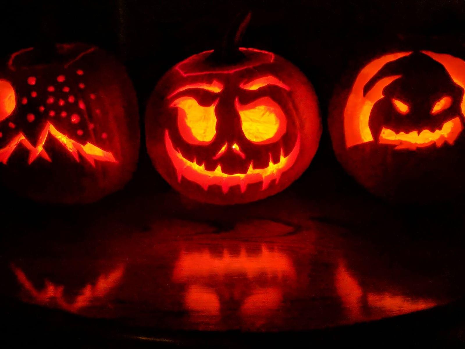 Pumpkins by the Villagrana family - Saul, Jamie, Emily and Gavin.