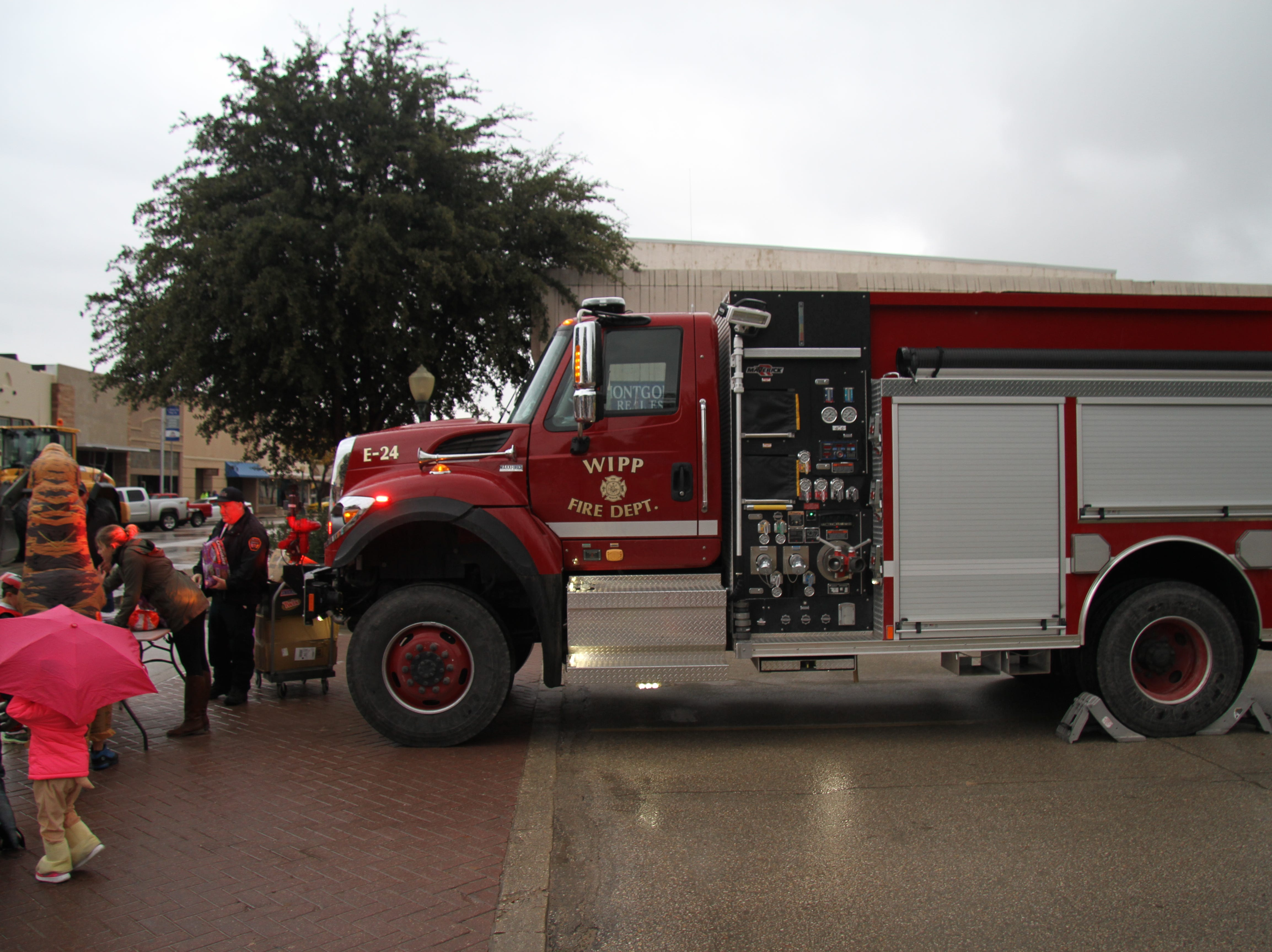 A fire truck from the WIPP Fire Department was on display Halloween afternoon for the MainStreet Fall Festival.