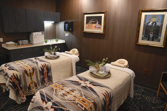 Guests toured the spa  facilities