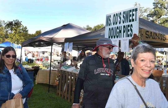 Sweet dough pies of all flavors and sizes at the annual Sweet Dough PIe Festival held recently in Grand Coteau.