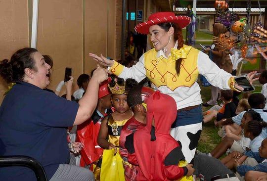 Park Vista Elementary Pre-K students celebrate Halloween.