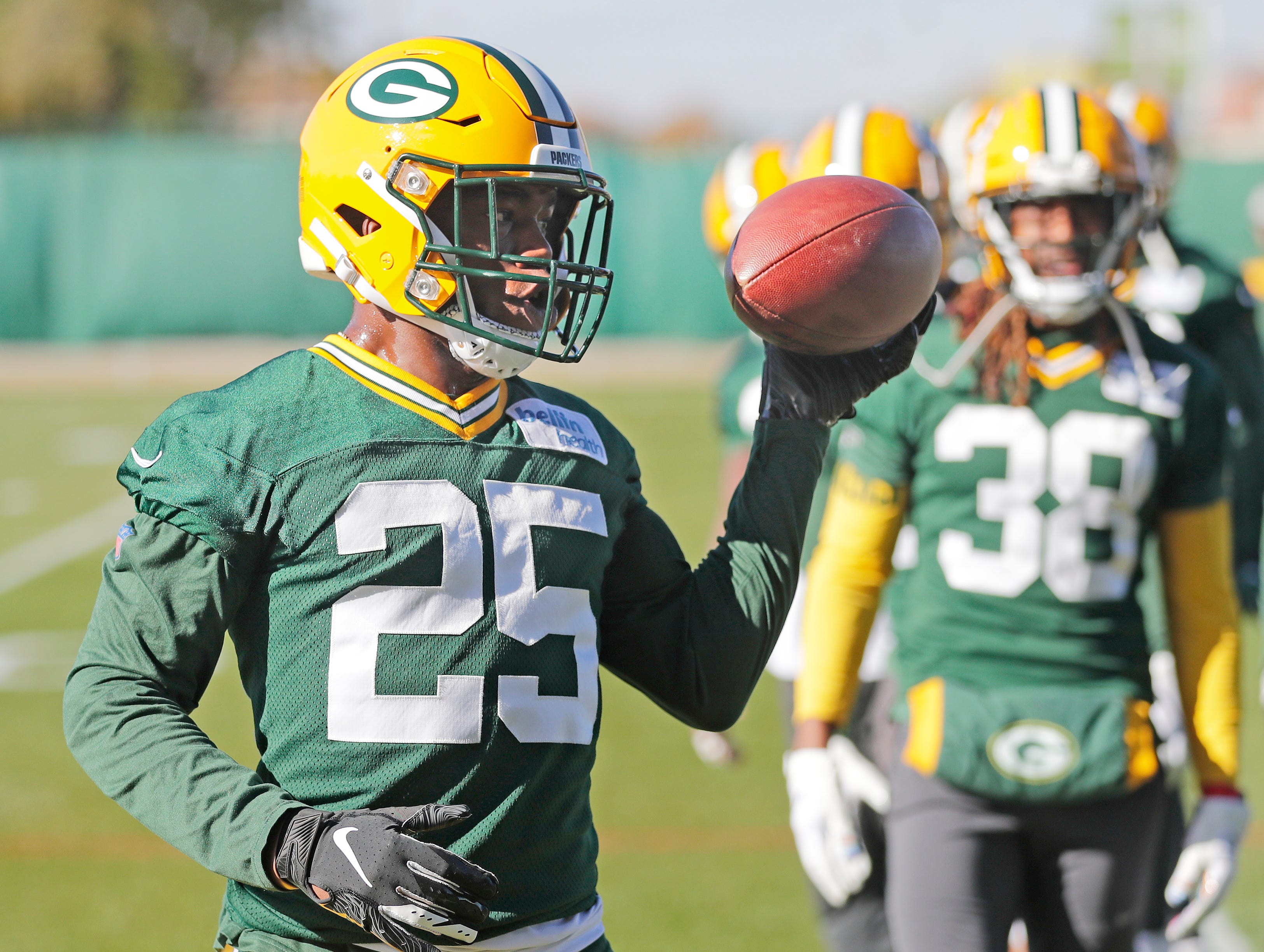 Green Bay Packers cornerback Will Redmond (25) during practice at Ray Nitschke Field on Wednesday, October 31, 2018 in Ashwaubenon, Wis.