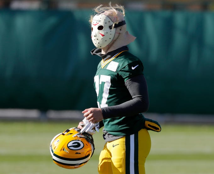 Green Bay Packers defensive back Josh Jones (27) takes the field for practice at Ray Nitschke Field on Wednesday, October 31, 2018 in Ashwaubenon, Wis.