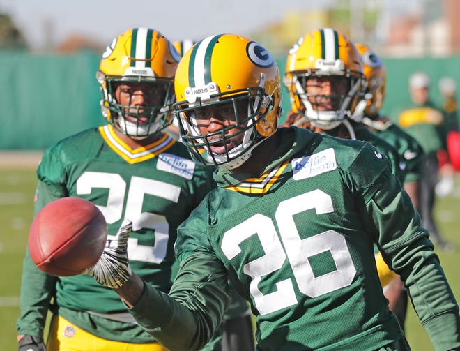 Green Bay Packers defensive back Bashaud Breeland (26) during practice at Ray Nitschke Field on Wednesday, October 31, 2018 in Ashwaubenon, Wis.
