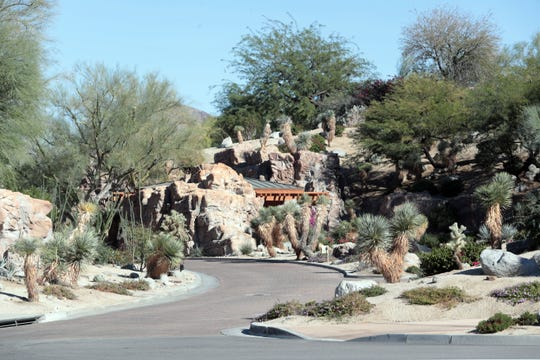 Entrance to Bighorn Country Club in Palm Desert on the East side of HWY 74 on Wednesday, October 31, 2018.