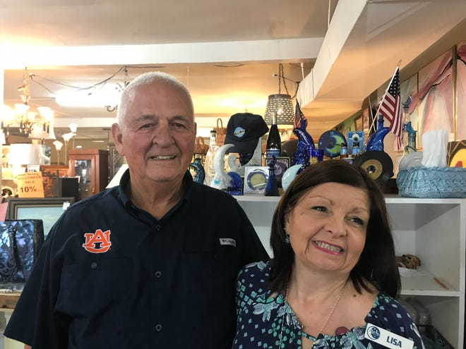 Pat and Lisa Byrne are the new owners of Blue Moon Antique Mall, a popular 12,000-square-foot antique mall on Navy Boulevard.