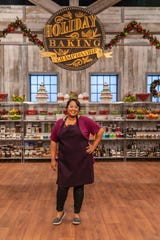 "Contestant Julia Ramos Perugini poses for a photo, as seen on Food Network's ""Holiday Baking Championship,"" Season 5."