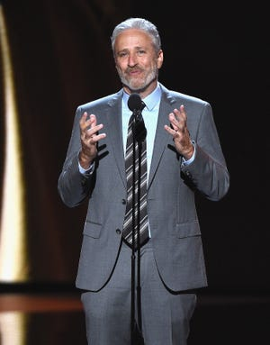 """Former """"Daily Show"""" host Jon Stewart says the media's narcissism is distracting them from covering important stories about President Donald Trump."""