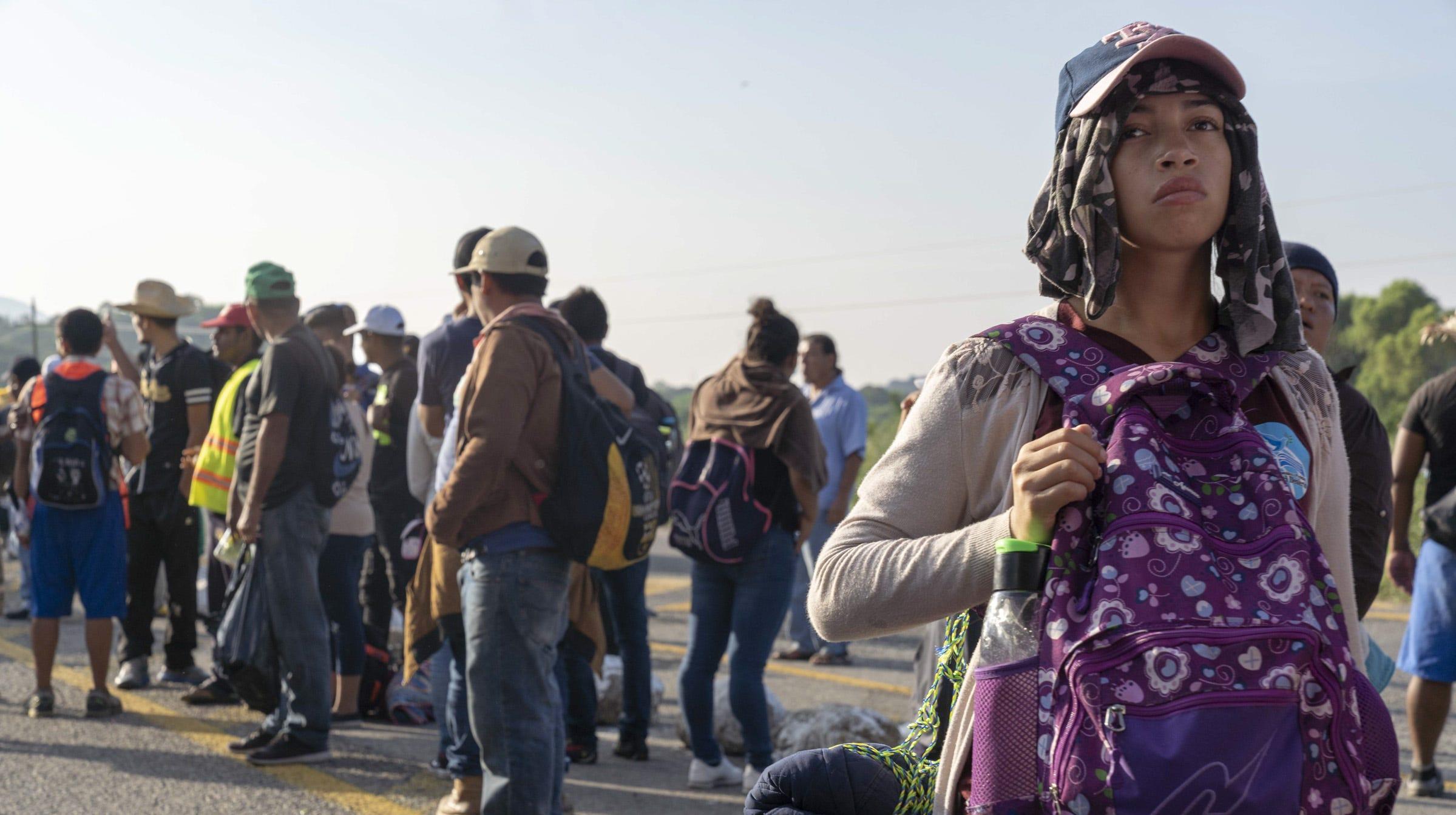 Resultado de imagen para The second caravan of Central American migrants is approaching Jalisco