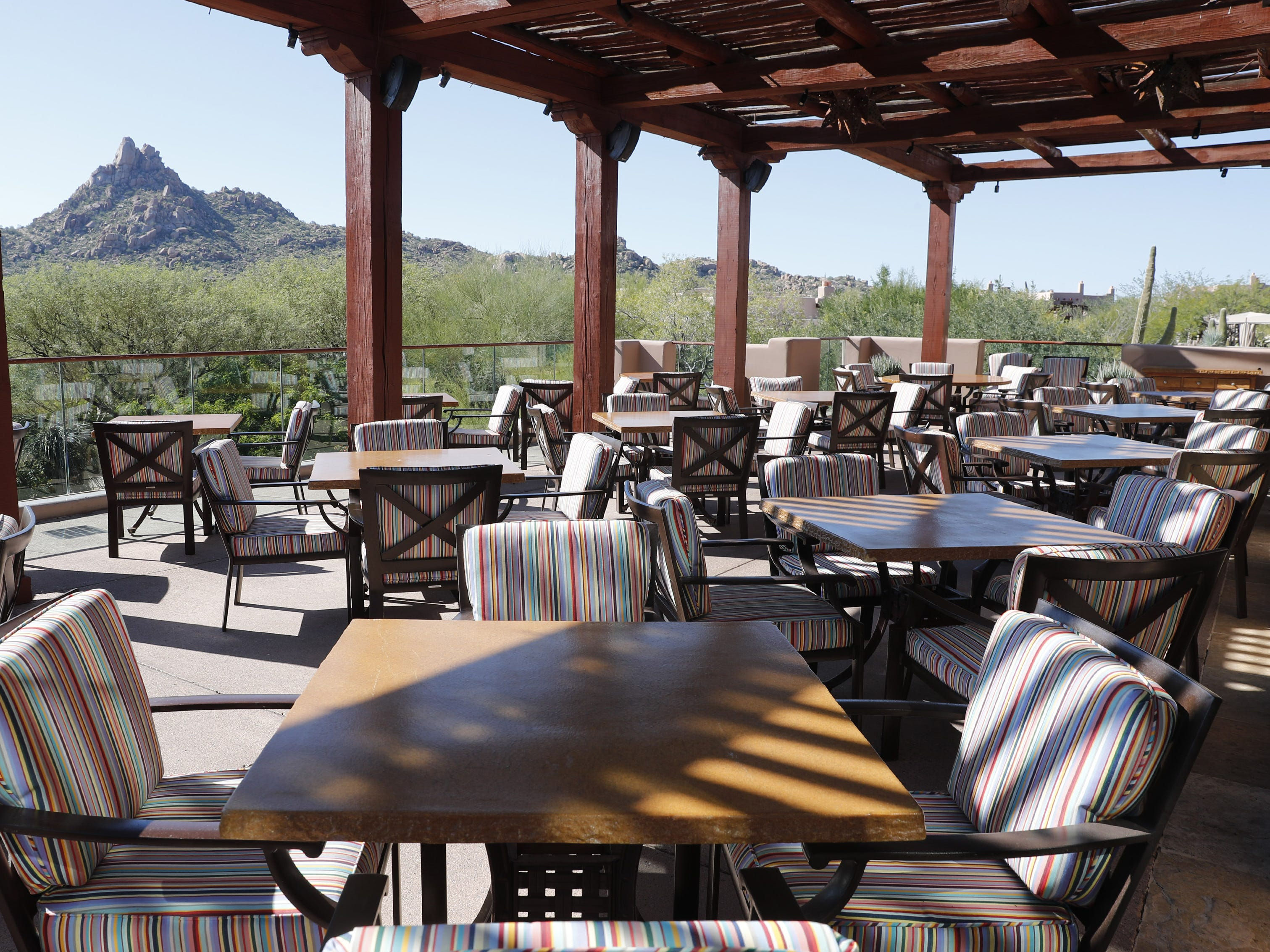 Patio of Talavera at the Four Seasons in Scottsdale, Ariz. Oct. 30, 2018.