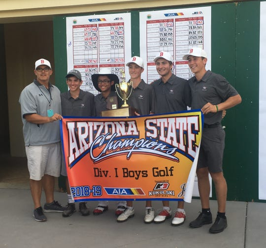 The Brophy boys golf team won the state championship on Tuesday, Oct. 30.