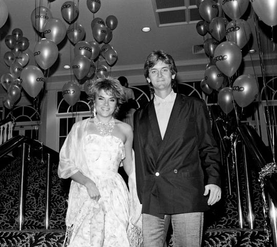 "They were so young: Rosanne Cash and Rodney Crowell attend the ASCP Awards banquet on Oct. 10, 1984, in Nashville.  Crowell picked up an award for ""Shame On the Moon"" that night."