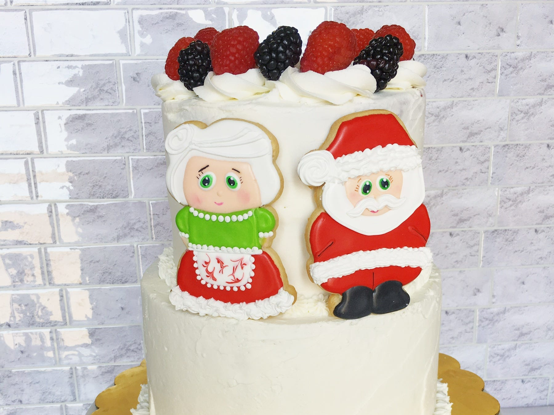 A holiday cake created by local championship baker Julia Perugini.