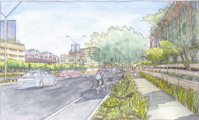A drawing of how Avondale Boulevard was envisioned under the City Center Plan approved in 2008.
