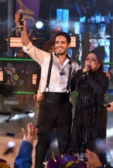 "Ektor Rivera and Gloria Estefan perform during ""Dick Clark's New Year's Rockin' Eve 2017"" on Dec. 31, 2016."