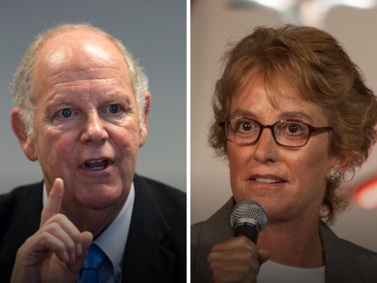 Congressional District 1 candidates Tom O'Halleran (D, incumbent) and Wendy Rogers (R).