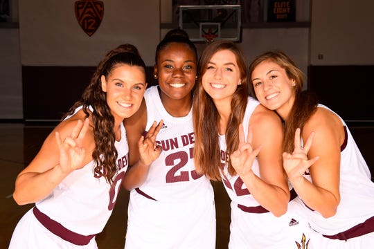 Arizona State's Taya Hanson, Iris Mbulito, Jayde Van Hyfte and Jamie Loera are steadily making progress in their freshmen season on a veteran team ranked No. 19 nationally.