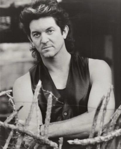 Rodney Crowell in his country-hunk days in 1989.